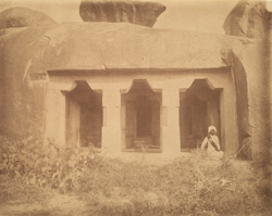 Front view of the Dharmaraja Cave Temple, Mamallapuram